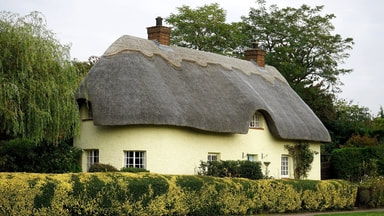 Thatched cottage newly rendered